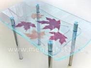 Какукрасить стеклянный стол?