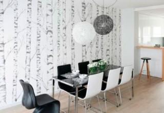 Как оформить стену над обеденным столом>