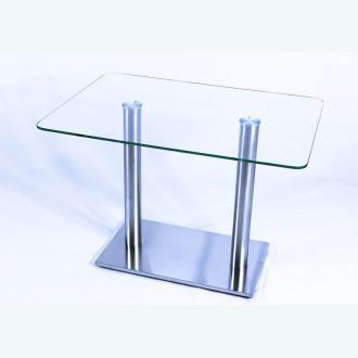 Стеклянный обеденный стол Е77 прозрачный