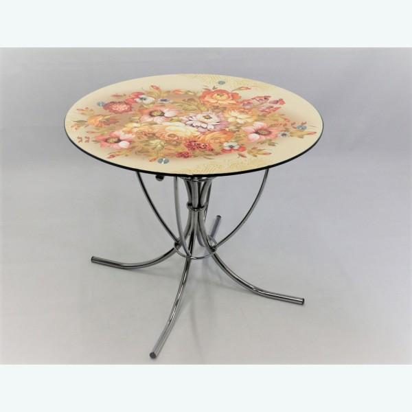 Обеденный стол Арфа фотопечать хохлома