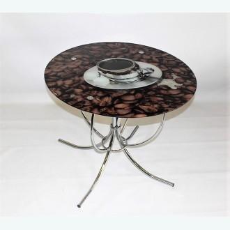 Обеденный стол Арфа фотопечать чашка кофе