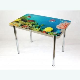 Стол обеденный Эдель 10 фотопечать аквариум