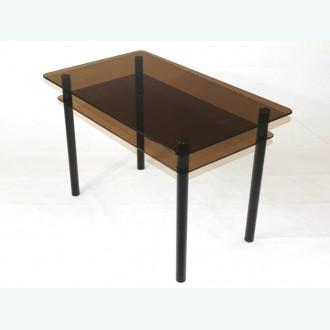 Обеденный стол из стекла Эдель 11 бронзовый