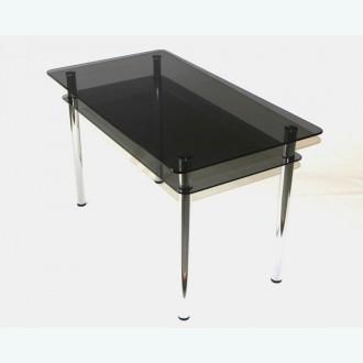 Обеденный стол из стекла Эдель 11 серый