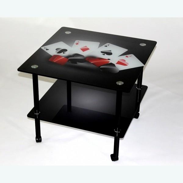 журнальный столик Эвита 08 карты на черном