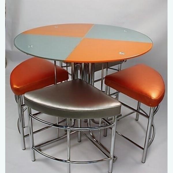 Обеденная группа Квартоль оранжево-стальной
