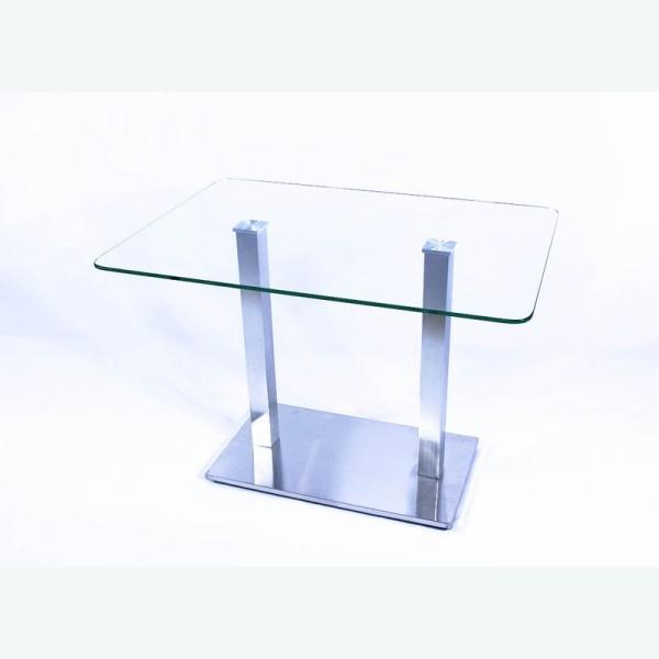 Стеклянный обеденный стол Е77К прозрачный