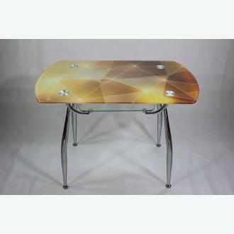 стеклянный стол Вокал 32 фотопечать золотая абстракция
