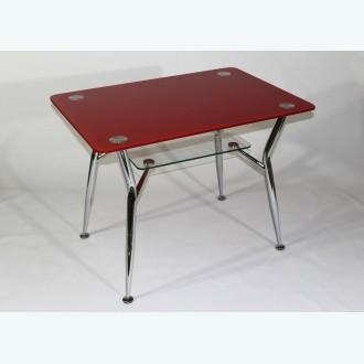 Стол обеденный Квадро 10 фотопечать красный
