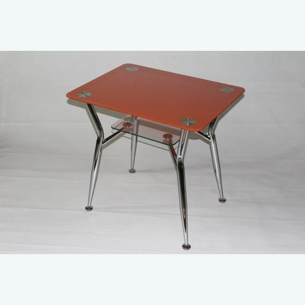 Стол обеденный Квадро 10 фотопечать оранжевый