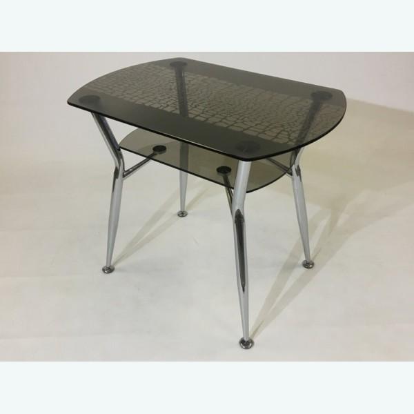 Стол обеденный Квадро 32 серый рисунок паутина с кантом