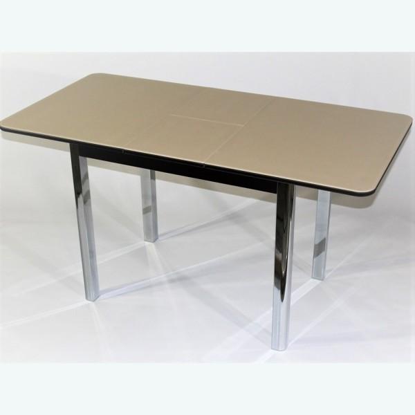Стол стеклянный бежевый -  Милан 10 (раздвижной)