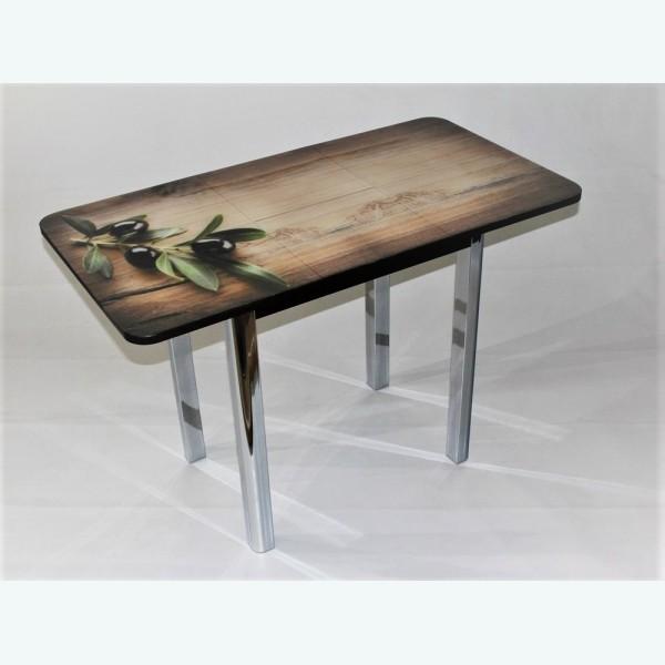 Стол Милан 10 раздвижной с фотопечатью оливки ветка (радиусная опора)