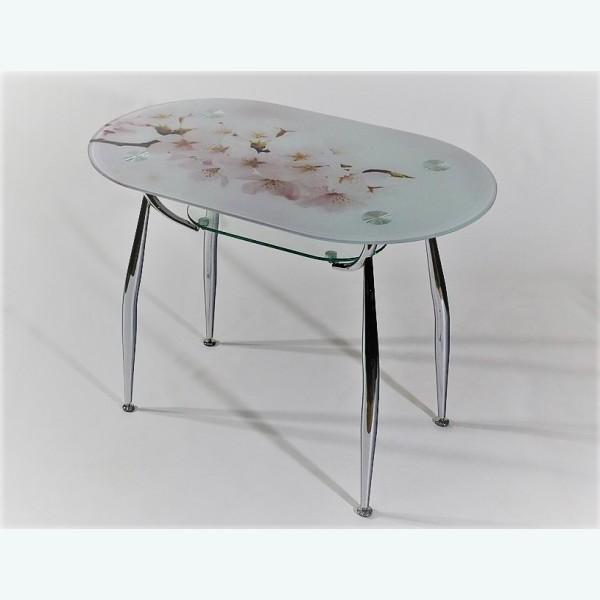 стеклянный стол Вокал 23 фотопечать сакура