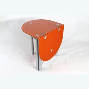 Стол Опус О раскладной оранжевый каркас серебро