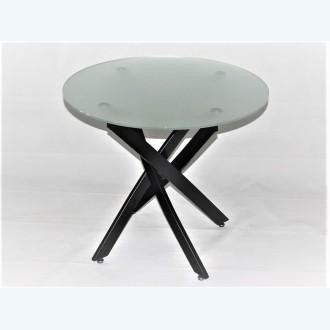 Стол обеденный Рим 18 DT17 матовый (каркас черный)