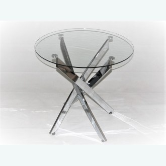 Стол обеденный Рим 18 DT17 (опоры металлокаркас хром)