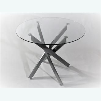 Стол обеденный Рим 18 DT17 каркас металлик (опоры металлокаркас металлик)