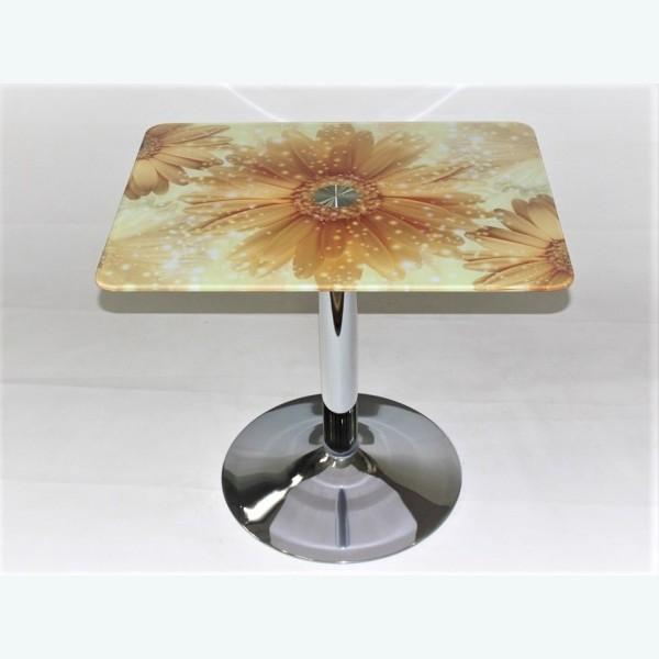 стол Троя 10 фотопечать герберы