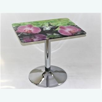 стол Троя 10 фотопечать орхидея на камне