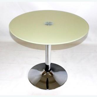 Стеклянный обеденный стол Троя 18 открас бежевый