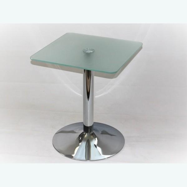 Квадратный стеклянный стол обеденный - Троя К (матовый)