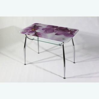 стеклянный стол Вокал 10 фотопечать орхидея розовая