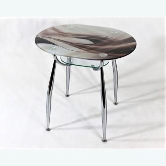стеклянный стол С600-ВК23 фотопечать бронзовая волна
