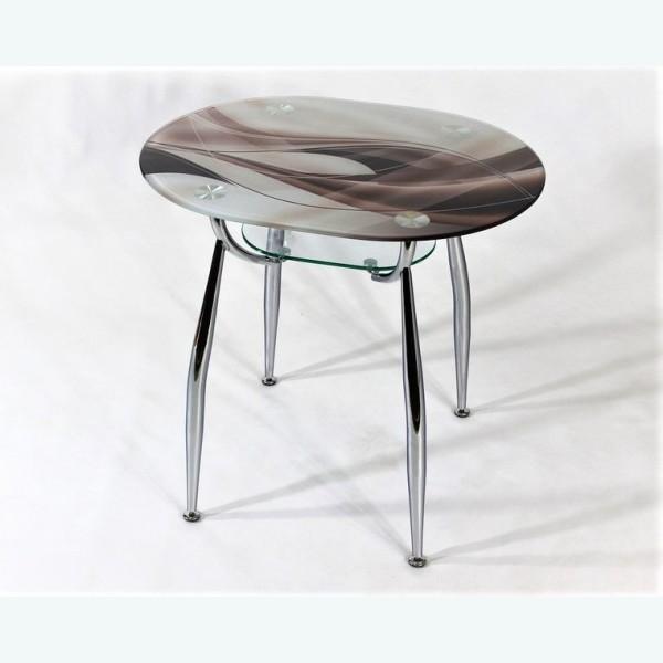 стеклянный стол Вокал 23 фотопечать бронзовая волна
