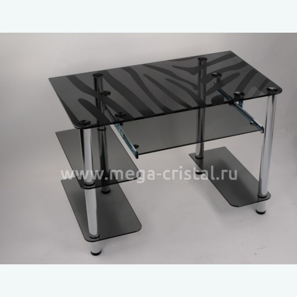 Компьютерный стол Премьер серый Зебра