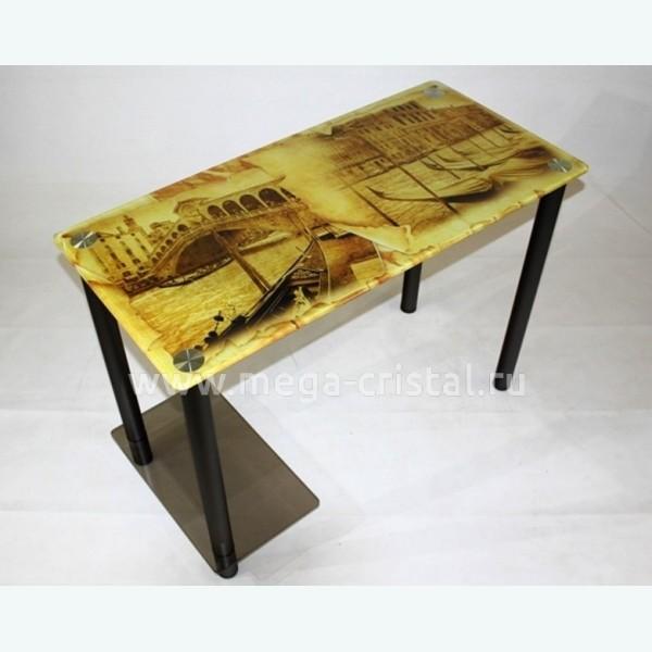 Компьютерный стол КС07 бронза с фотопечатью