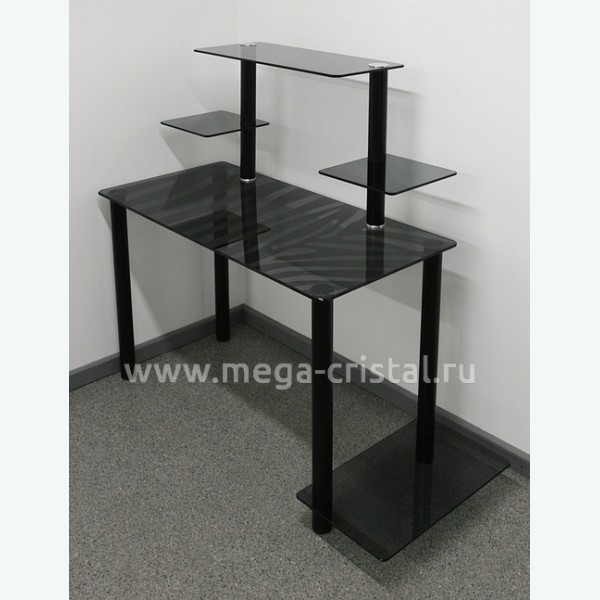 Компьютерный стол КС03 серый зебра