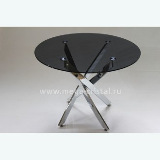 Стол обеденный Рим 18 DT17 серый (опоры металлокаркас хром)