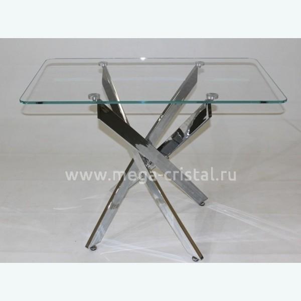 Стол обеденный Рим 10 (опоры металлокаркас хром)