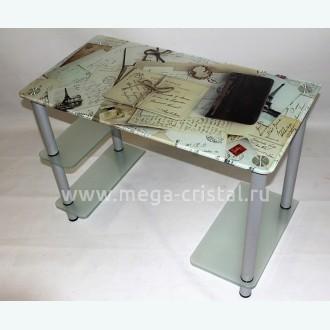 Компьютерный стол Премьер 2 матовый с фотопечатью