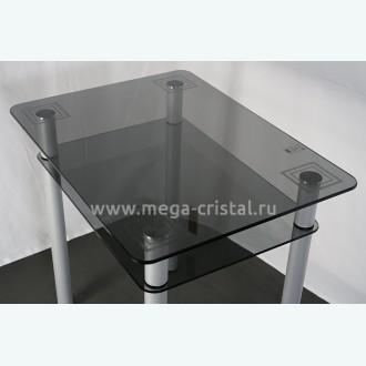 Стол обеденный Эдель 11 серый с рисунком квадраты 3