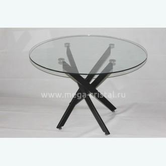 Стол обеденный Рим 18 DT17 Ч (опоры металлокаркас крашеный черный)