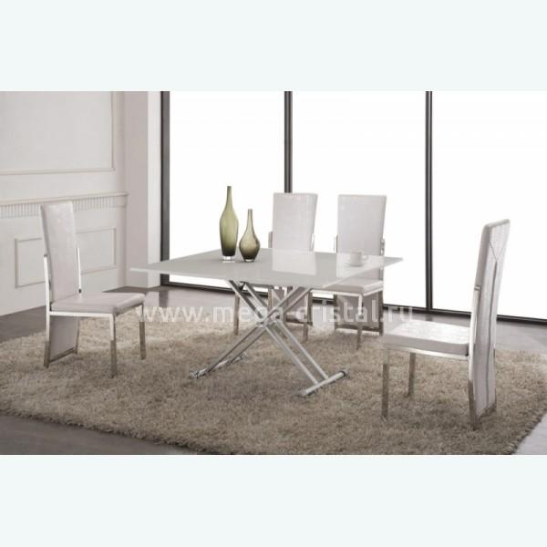 стол трансформер 2166 белый лак