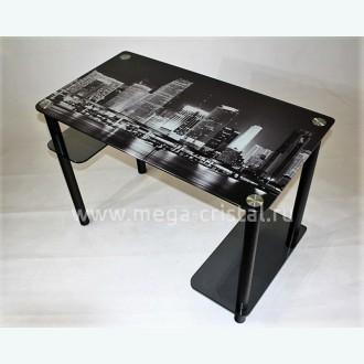 Компьютерный стол Премьер 3 серое с фотопечатью
