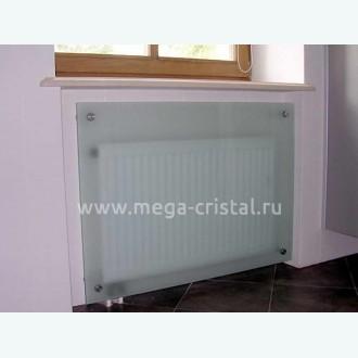 стеклянный экран для батареи матовый
