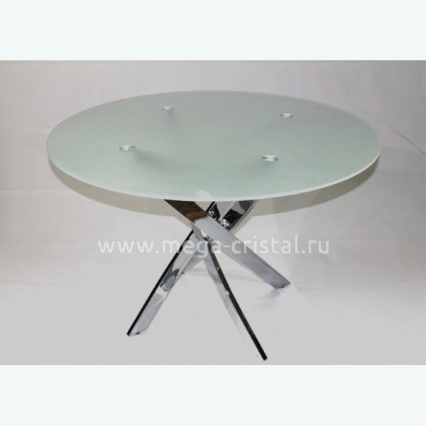 Стол обеденный Рим 18 DT17 матовый (опоры металлокаркас хром)