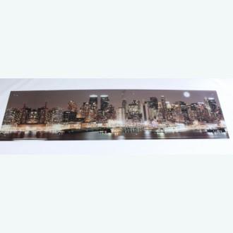 Стеклянная панель с фотопечатью коричневый город