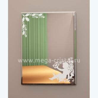 зеркало прямоугольное с рисунком
