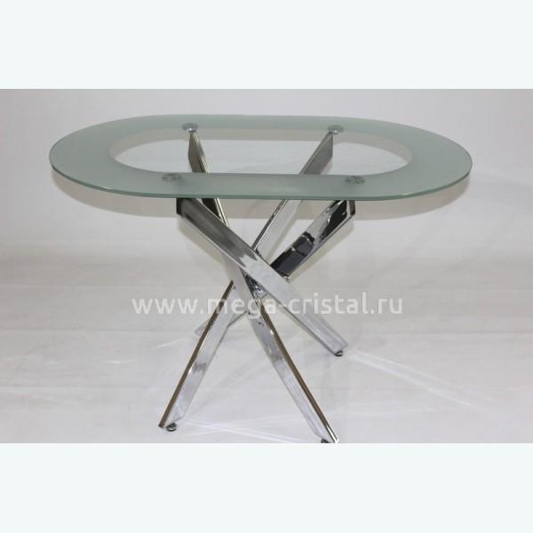 Стол обеденный Рим 23 Кант (опоры металлокаркас хром)