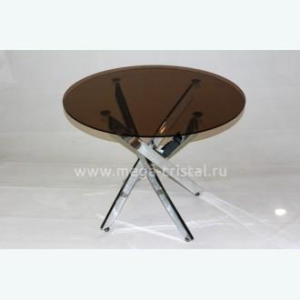 Стол обеденный Рим 18 DT17 бронза (опоры металлокаркас хром)